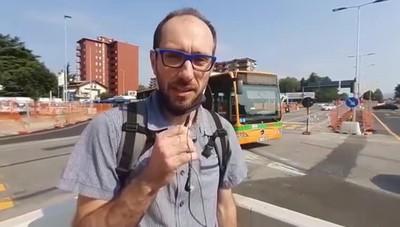 L'assessore Stefano Zenoni sulla nuova rotonda di Campagnola