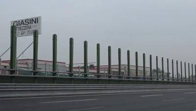 A4, rimosse le barriere fonoassorbenti