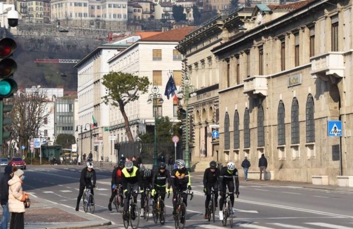 Ciclisti in centro