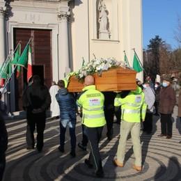 Bonate Sopra, l'addio al soccorritore «Claudio, una vita di impegno per gli altri»