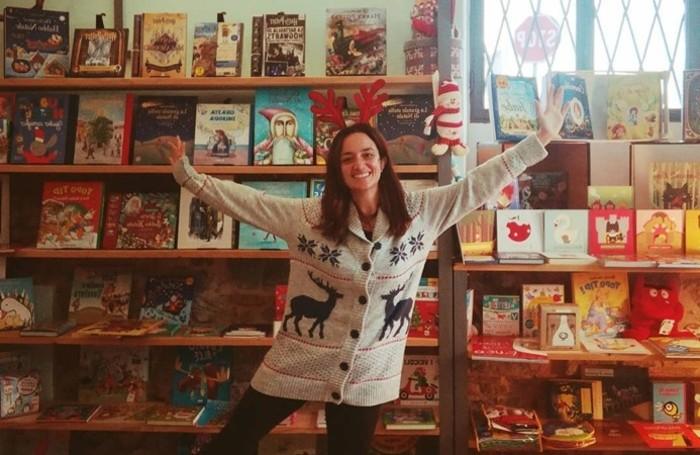 Daniela Scotti, 39 anni originaria di Trezzo sull'Adda, titolare de La libreria del lago di Sarnico