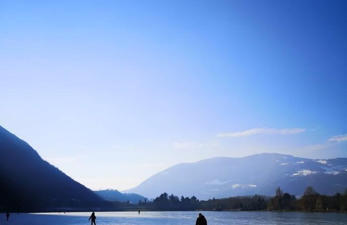 Lago d'Endine ghiacciato foto di Paolo Meli