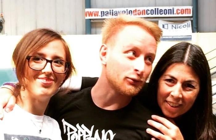 Elisa con Simone Sistarelli e Cristina Rizzetti