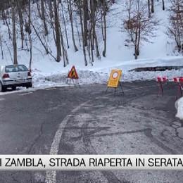 Passo di Zambla, strada riaperta in serata dopo la slavina