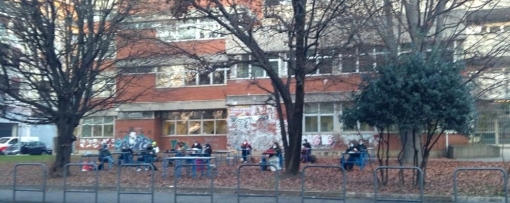 Studenti in protesta anche al «Secco Suardo» Nel pomeriggio manifestazione alla Trucca