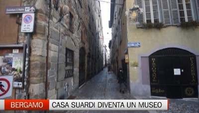 Bergamo: i cantieri arrivano in piazza Vecchia, si sistema Casa Suardi