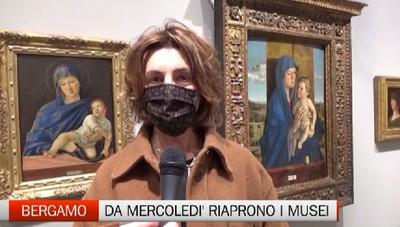 Bergamo - Zona gialla, musei aperti