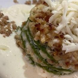 Lasagne verdi  con ragù bianco