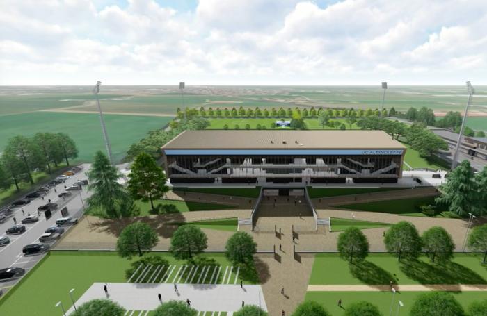 Il rendering dell'area del progetto Campus