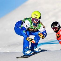 Snowboard, grande argento per la Moioli «Dedicato alla mia amica Goggia»