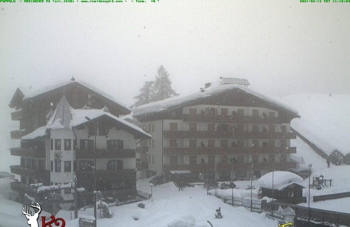 La situazione a Foppolo in tempo reale grazie alla webcam a Montebello e K2
