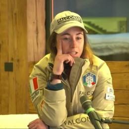 Sofia Goggia a Cortina dalle compagne «Tifo per loro, ad aprile tornerò sugli sci»
