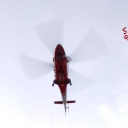 Carona, scivola durante una ciaspolata Ragazza in salvo con l'elicottero - Video