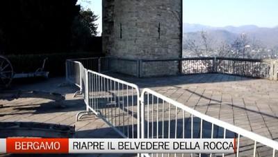 Bergamo: partito il cantiere per il recupero del belvedere della Rocca
