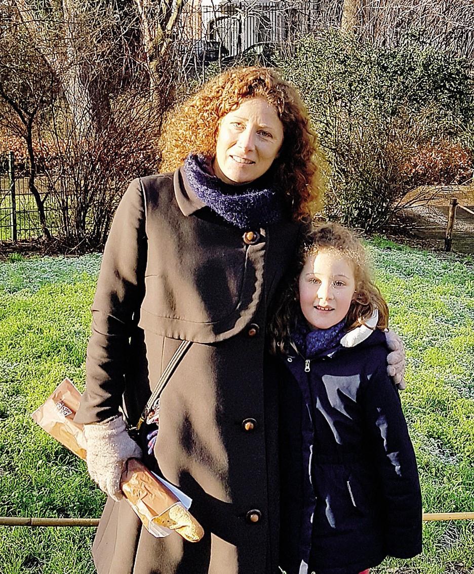Hinano Spreafico con la figlia Clara