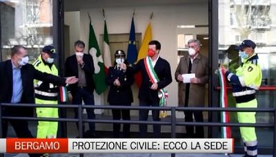 Inaugurata (con 4 anni d ritardo) la nuova sede della Protezione Civile di Bergamo