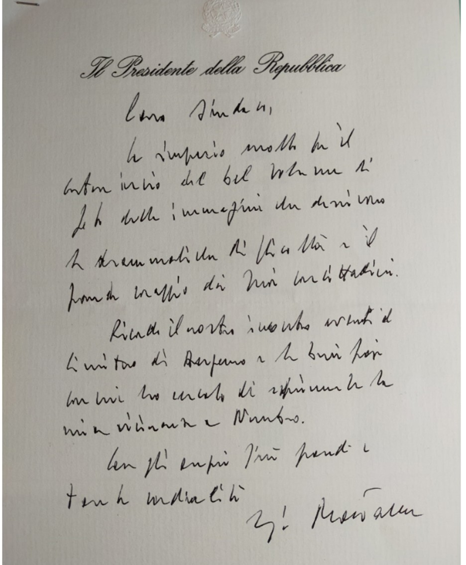 La lettera del presidente della Repubblica