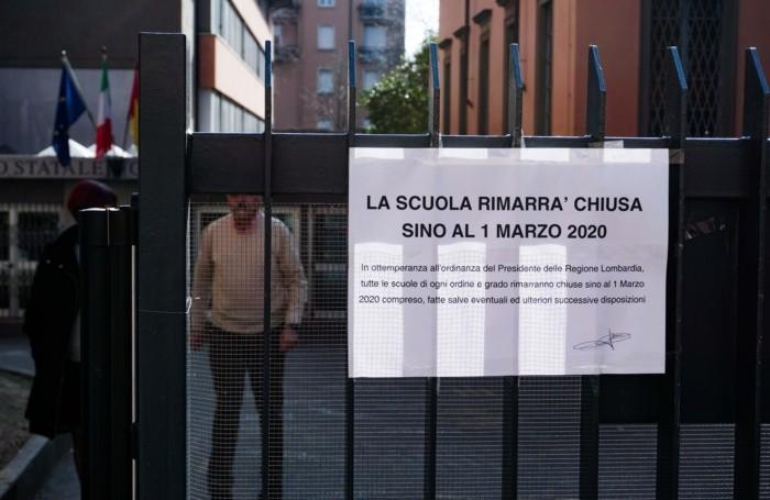 Le scuole chiuse dal 26 febbraio al 1° marzo su ordinanza della Regione Lombardia