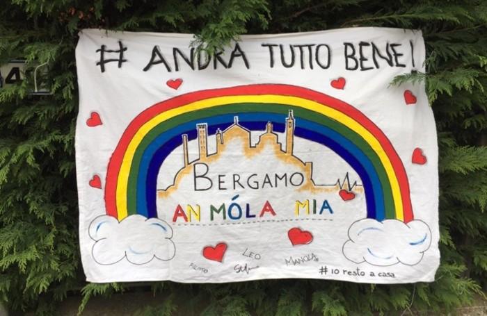Gli arcobaleni disegnati dai bimbi il 14 marzo