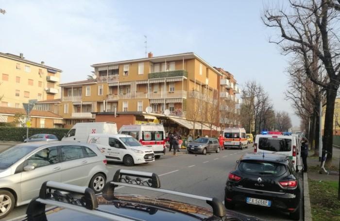 L'incidente in via Caboto a Bergamo
