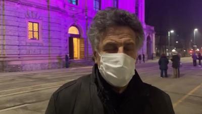 Tino Tracanna per l'iniziativa  «Facciamo luce sul teatro»