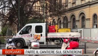 Aperto ufficialmente il cantiere sul Sentierone di Bergamo. Si parte da piazza Cavour