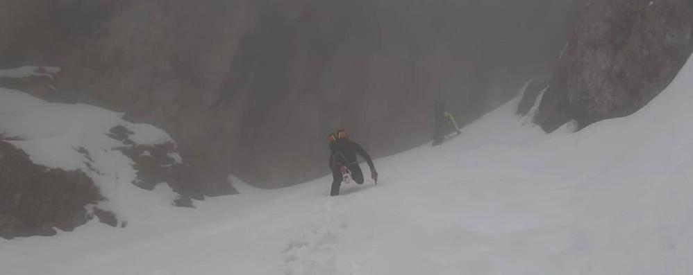 Due alpinisti bloccati sul Monte Croce Portati in salvo dal Soccorso alpino - Foto