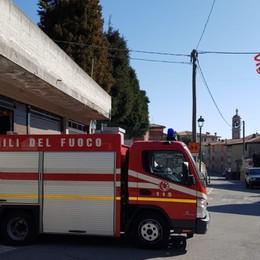 Frana di Parzanica, in caso di emergenza Vigili del fuoco pronti a intervenire