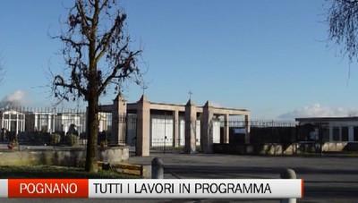 Il piccolo Pognano investe: lavori in arrivo al comune e al cimitero