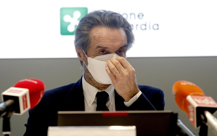 La Lombardia rimane arancione (rafforzato) L'annuncio del presidente Fontana