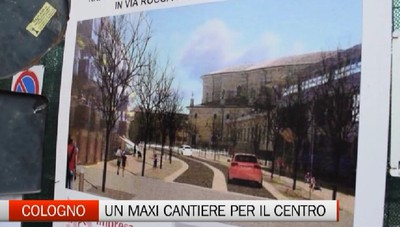 Lavori in corso a Cologno. Il centro è diventato un maxi cantiere.
