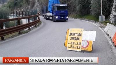 Parzanica, la riapertura parziale della strada