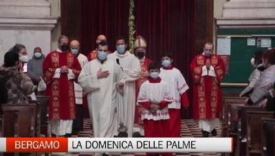 Bergamo, la Santa Messa della Domenica delle Palme