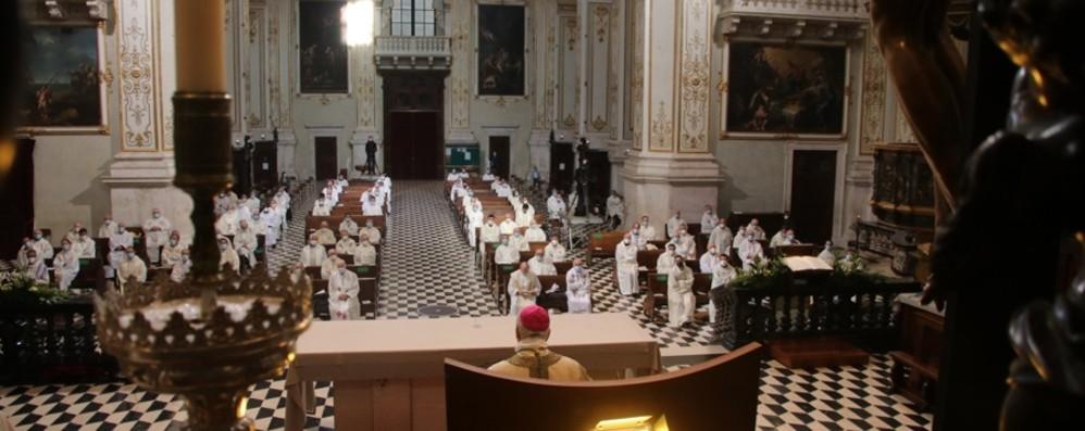 La Messa di avvio del Triduo pasquale  Il Vescovo Beschi in Cattedrale - Foto