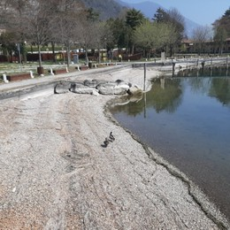 Lago d'Iseo, acqua bassa record: 25 cm al di sotto della media del periodo