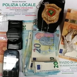 Non si ferma all'alt, inseguimento a Spirano Droga e 1.600 euro in macchina