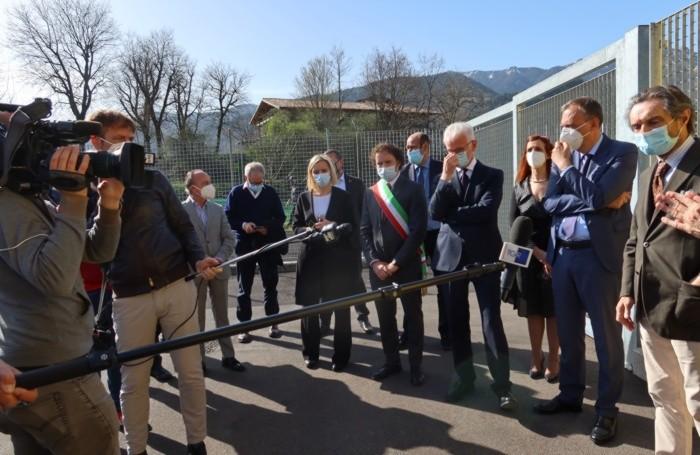 Con le autorità e i giornalisti a Clusone