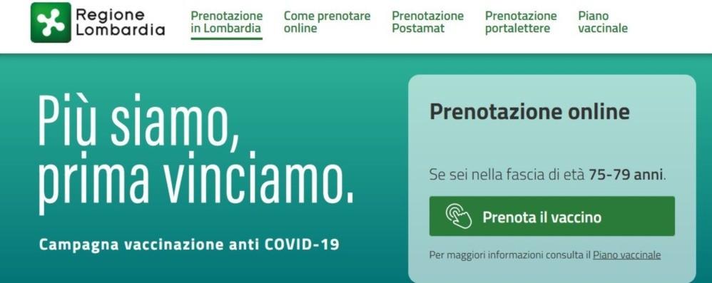 Vaccini per chi ha 75-79 anni, venerdì in Lombardia le prenotazioni. Ecco come fare