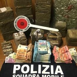 Zingonia, in manette spacciatore 40enne. In garage 20 kg di droga e 65.000 euro -Video