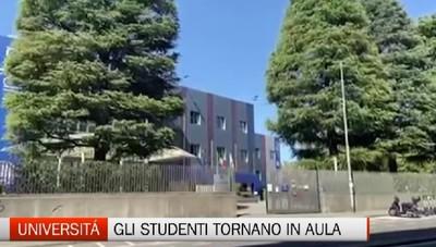 Studenti in presenza anche nell'università, ma con le precauzioni anti pandemia