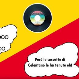 Duetto del Bepi con Giorgio Gori.Al centro la raccolta differenziata, il video della canzone e del backstage