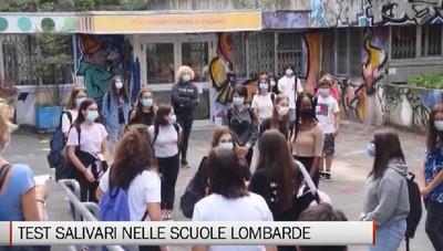 Test salivari nelle scuole lombarde