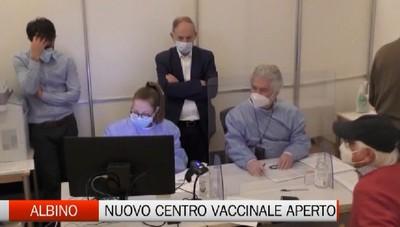 Albino, aperto  il nuovo centro vaccinale