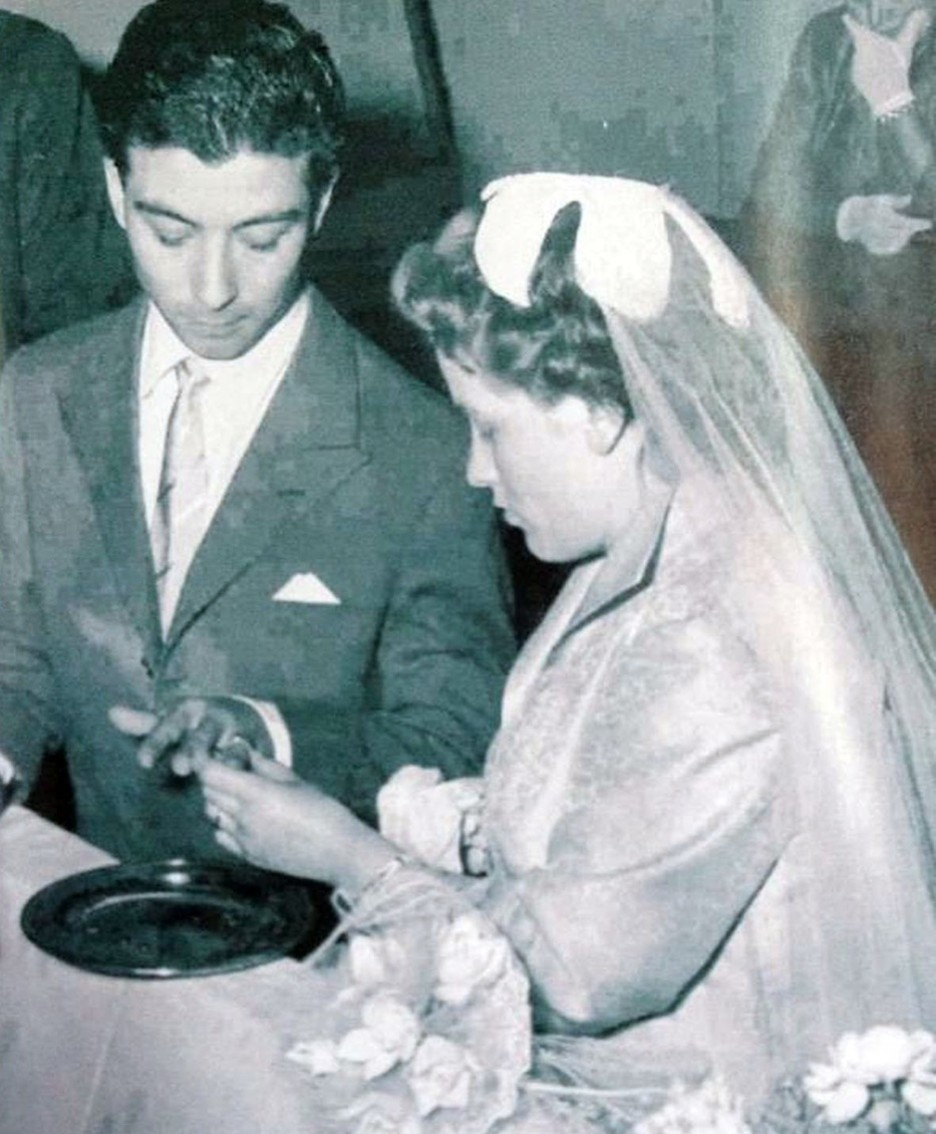 Gino e Anna Salvi il giorno del loro matrimonio (giugno 1956, ad Albino)