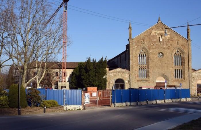 Sant'Agostino nel 2021, con i lavori di recupero in corso
