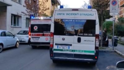 Innvestimento bimba di 8 anni in via Partigiani a Bergamo