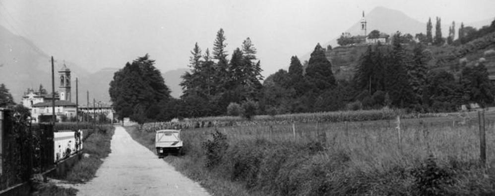 Quella strada tra   campi e colli, dagli anni Sessanta ad oggi: ecco via Sombreno