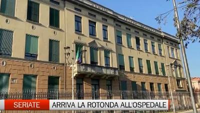 Seriate: arriva la rotonda all'ospedale Bolognini