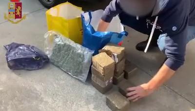 Zingonia, sequestro di 20 kg di droga