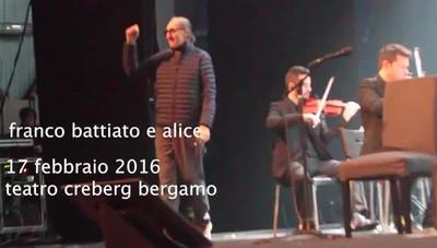 Battiato e Alice al Teatro Creberg